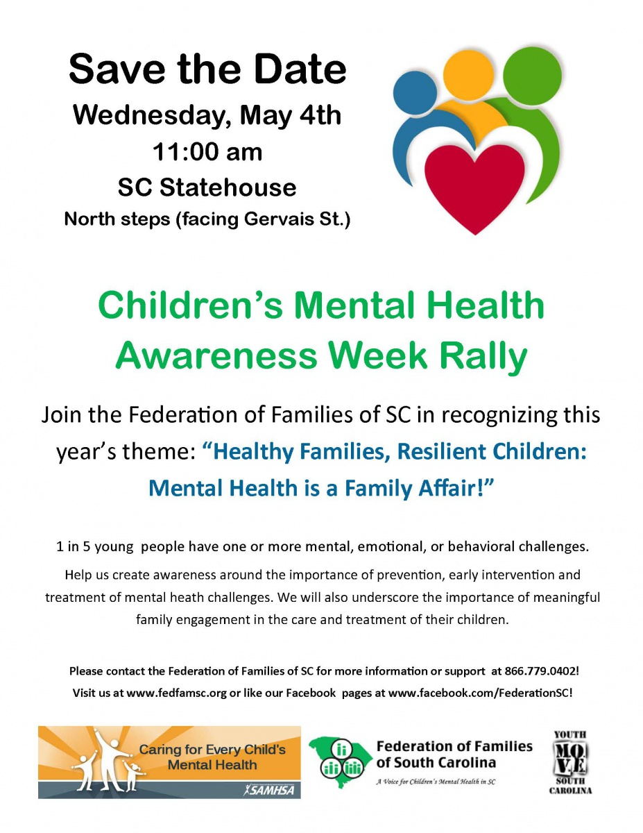Help The Federation Of Families SC Create Awareness Around Importance Prevention Early Intervention And Treatment Mental Heath Challenges